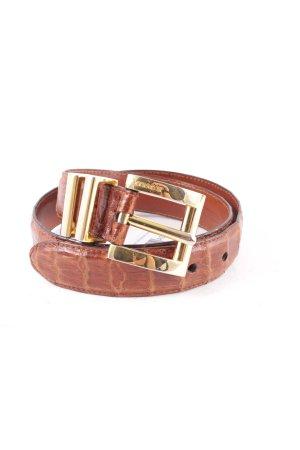 Jil Sander Cinturón de cuero color oro-marrón elegante