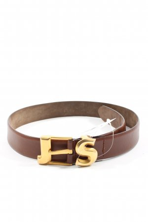 Jil Sander Cinturón de cuero de imitación marrón look casual
