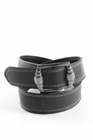Jil Sander Faux Leather Belt black casual look