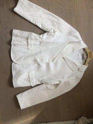 Jil Sander Blazer en jean blanc cassé
