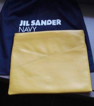 JIL SANDER NAVY - Clutch gelb mit Etikett