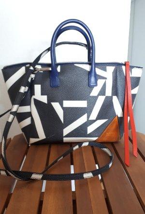 Jil Sander Navy Handtasche mit schönen Details