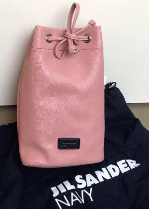 * JIL SANDER * NEU ! kleiner Beutel Safiano Leder( Imitat) alt rosa