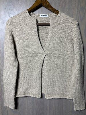 Jil Sander Kaszmirowy sweter beżowy