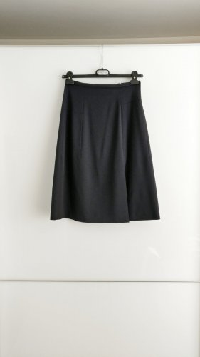 Jil Sander Wool Skirt dark blue