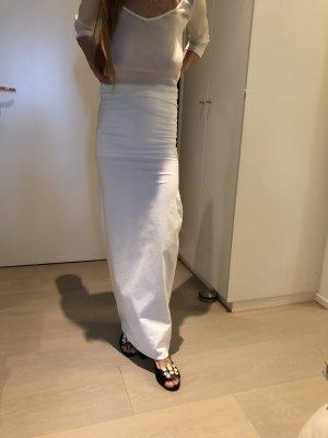 Jil Sander Maxi Skirt white cotton