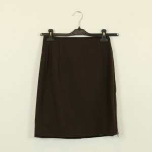 Jil Sander Falda de tubo marrón-negro