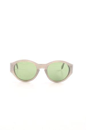 Jil Sander Lunettes de soleil rondes brun-vert style décontracté