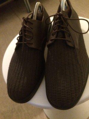 Jil Sander Sznurowane buty brązowy Skóra