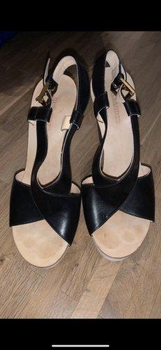 Jil Sander Heel Pantolettes white-black