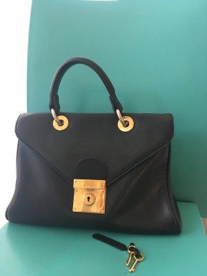 Jil Sander schwarze Leder Handtasche **Klassiker