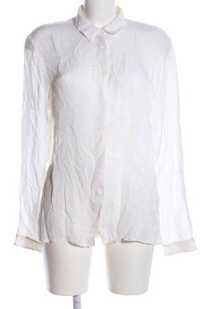 Jil Sander Blusa in seta bianco stile professionale