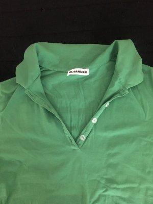 Jil Sander Sports Shirt green cotton