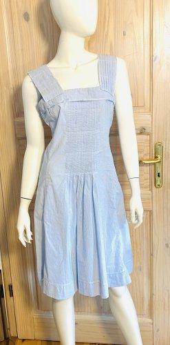 Jil Sander Vestido de Verano blanco-azul bebé Algodón