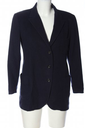 Jil Sander Strickblazer blau Business-Look