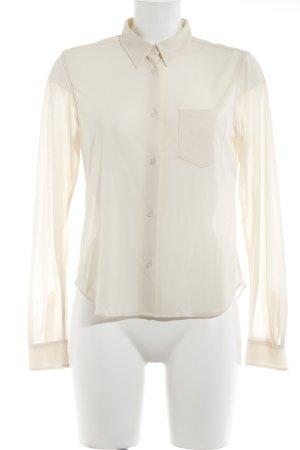 Jil Sander Transparenz-Bluse creme schlichter Stil