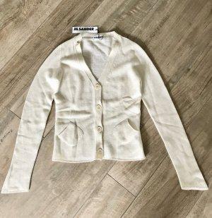 Jil Sander Cardigan in maglia beige chiaro Lana merino