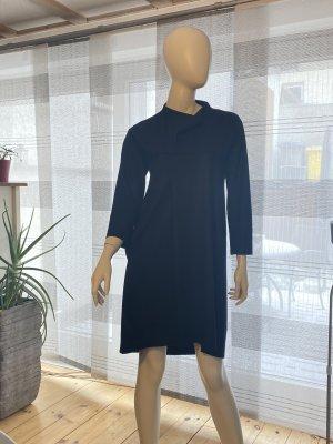 Jil Sander Woolen Dress black wool