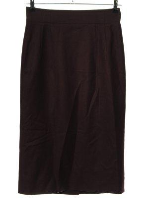 Jil Sander Jupe en laine brun style décontracté