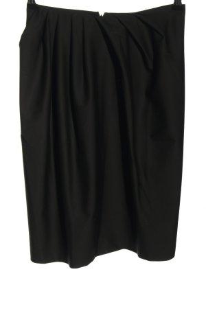 Jil Sander Falda de lana negro look casual