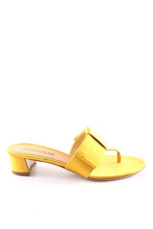 Jil Sander Sandalo infradito con tacco alto giallo pallido stile casual