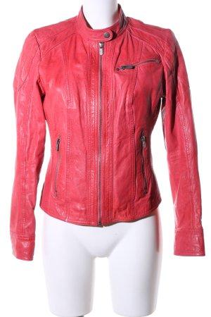 Jilani Biker Jacket red casual look