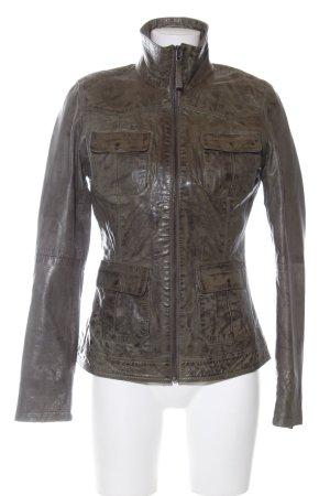 Jilani Lederjacke bronzefarben-braun Casual-Look