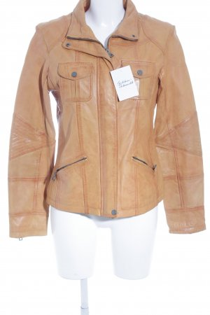 Jilani Lederjacke orange extravaganter Stil
