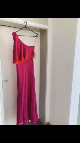 Jill stuart Sukienka na jedno ramię fioletowy-pomarańczowy neonowy