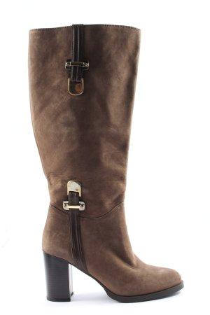 jilsen Wide Calf Boots brown casual look