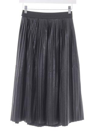 Jim P Geplooide rok zwart elegant