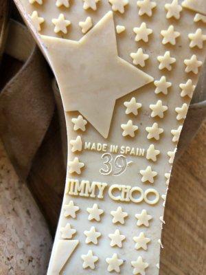 Jimmy Choo Chanclas beige-color oro Cuero