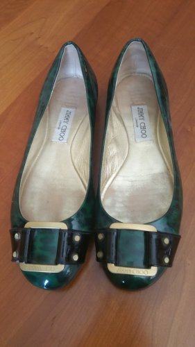 Jimmy Choo Slingback Ballerinas black-dark green
