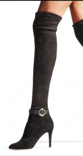 JIMMY CHOO Boots TONI suede Overknees over the knee Stiefel