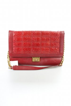 Jimmy Choo Clutch bordeauxrot Animalmuster Party-Look