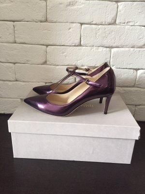 Jimmy Choo Zapatos de tacón con barra en T lila Cuero