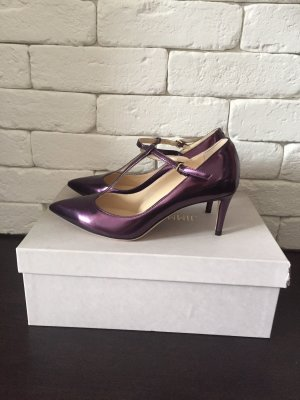 JIMMY CHOO 'daria 65' Mirror Leather T-bar Mary Jane Pumps*36,5*