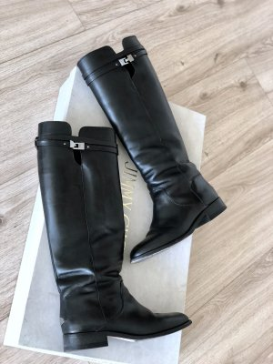 Jimmy Choo Riding Boots black leather