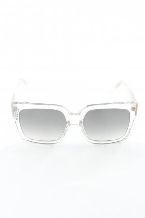 Jimmy Choo Hoekige zonnebril lichtgrijs glitter-achtig