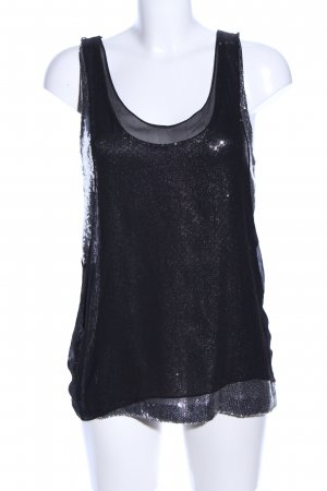 Jimmy Choo for H&M Top linea A nero con glitter