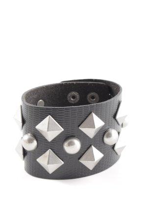 Jimmy Choo for H&M Lederen armband zwart extravagante stijl