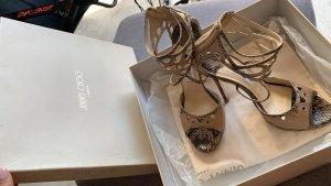 Jimmy Choo Gr. 37 Schuhe High heels Beige Pythonleder Orginal mit Karton