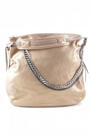 Jimmy Choo Henkeltasche bronzefarben Metallic-Optik