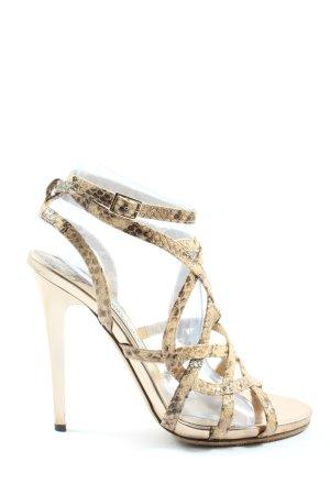 Jimmy Choo High Heel Sandal natural white-brown animal pattern elegant