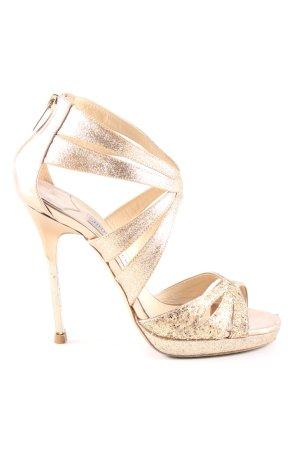 Jimmy Choo High Heel Sandaletten goldfarben Elegant