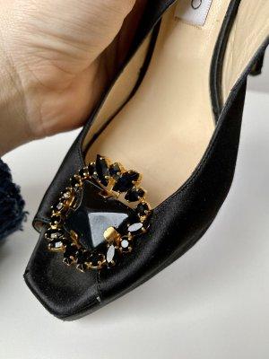 Jimmy Choo High Heels black-gold-colored