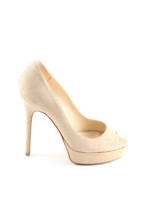 Jimmy Choo High Heels creme Business-Look