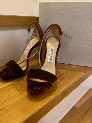 Jimmy Choo high heels ( misty 120) in rostrot samt