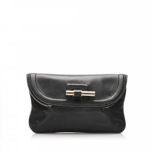 Jimmy Choo Justine Leather Clutch Bag