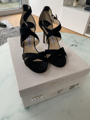 Jimmy Choo Louise Suede Sandal schwarz